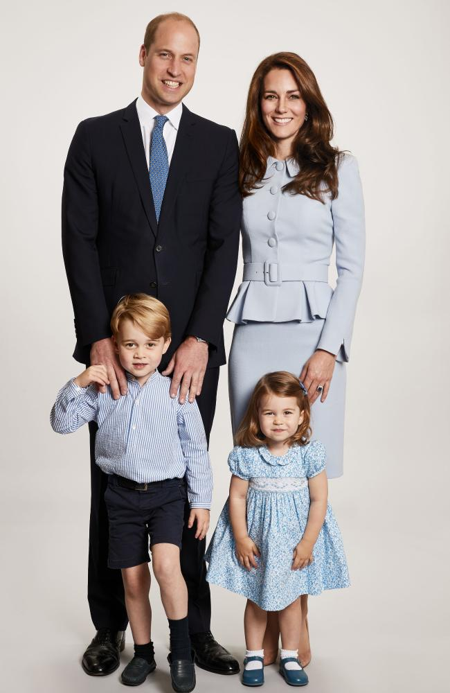 The photograph the Duke and Duchess of Cambridge chose for their family Christmas card this year. Picture: Supplied