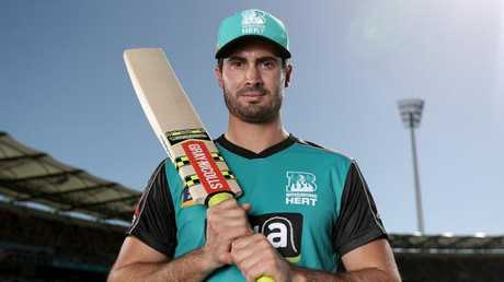 Brisbane Heat player Ben Cutting says the Gabba crowd were ready to give it to Kevin Pietersen. Picture: Peter Wallis