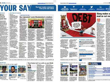 The digital edition of the paper allows you to read it exactly as it appears in the paper, or you can zoom in and open up individual stories and items.