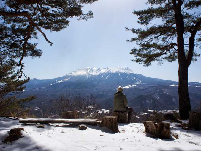 WINTER WALK: On the Nakasendo Way.