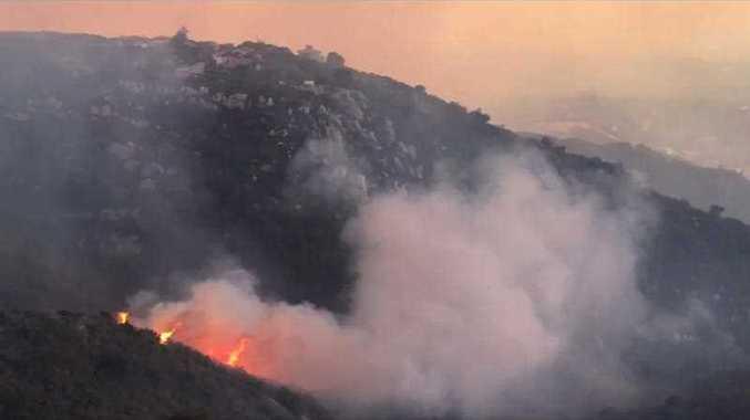 Smoldering California Wildfires