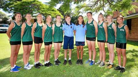 Banora Point Primary School 2017 sports representives.
