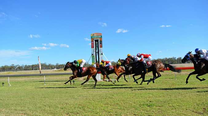CUP CHAMPION: Jason Missen on Better Idea claims victory in the Black Toyota Chinchilla Cup Open Handicap (1400m).