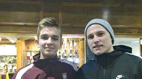 Dylan with Aaron Mooy