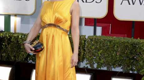 Alyssa Milano arrives at the 70th Annual Golden Globe Awards at the Beverly Hilton Hotel.