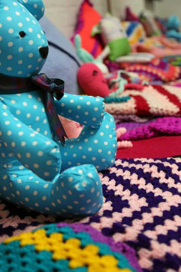 Steady teddy go... items crocheted for newborns and little children by inmates at Grafton Correctional Centre's June Baker Centre.