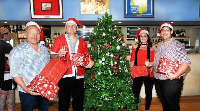 HO, HO, HO: Traders at Salt Village are gearing up for a big Christmas.
