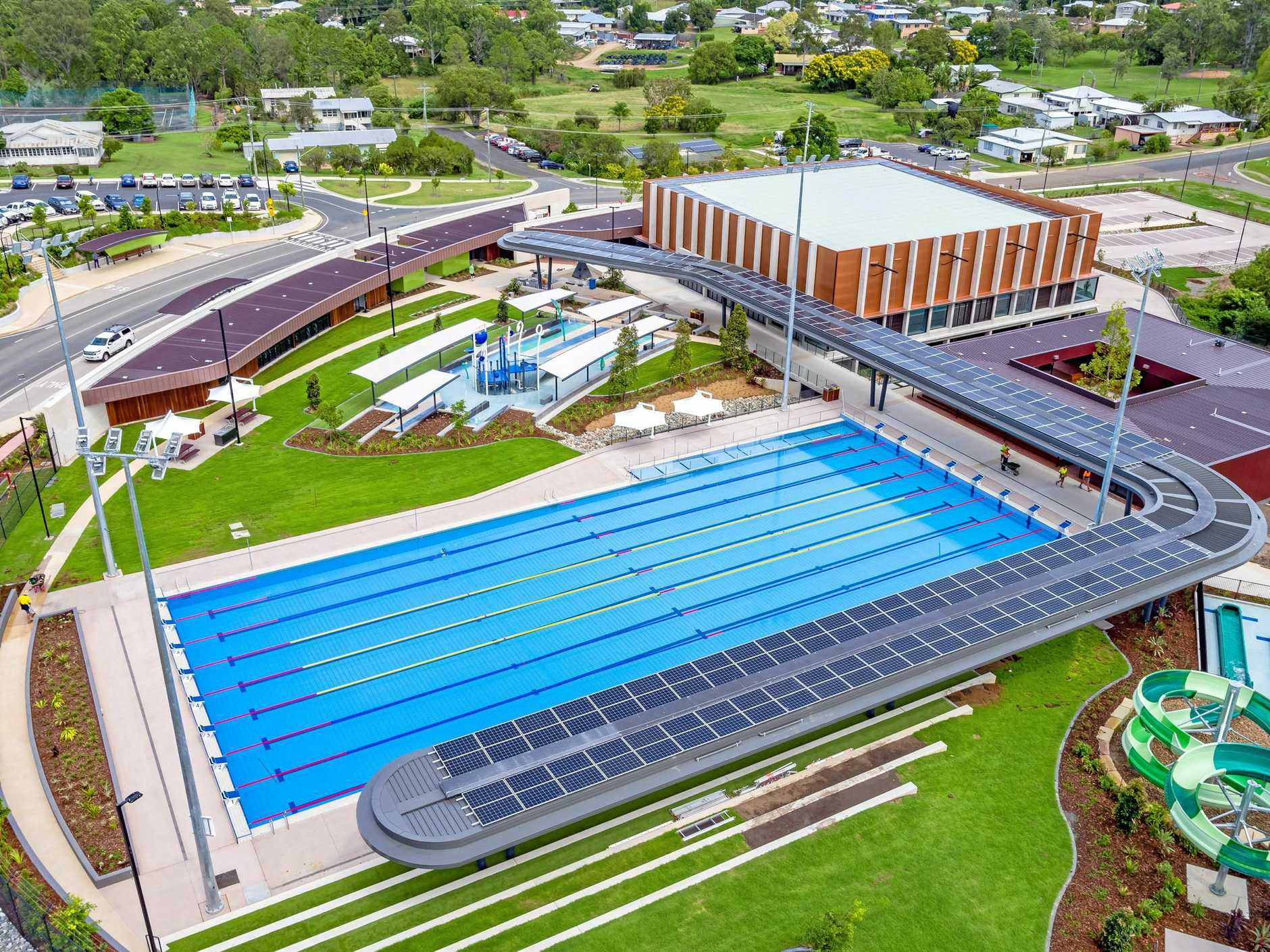 The Gympie aquatic centre.