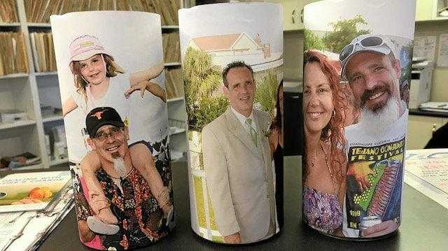 OPTIONS: The three donation tins currently in Clarence Medical Centre to raise money for Sasha Berry.