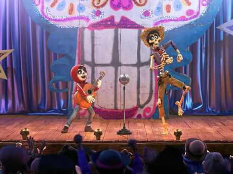 A scene from the movie Coco. Supplied by Disney.