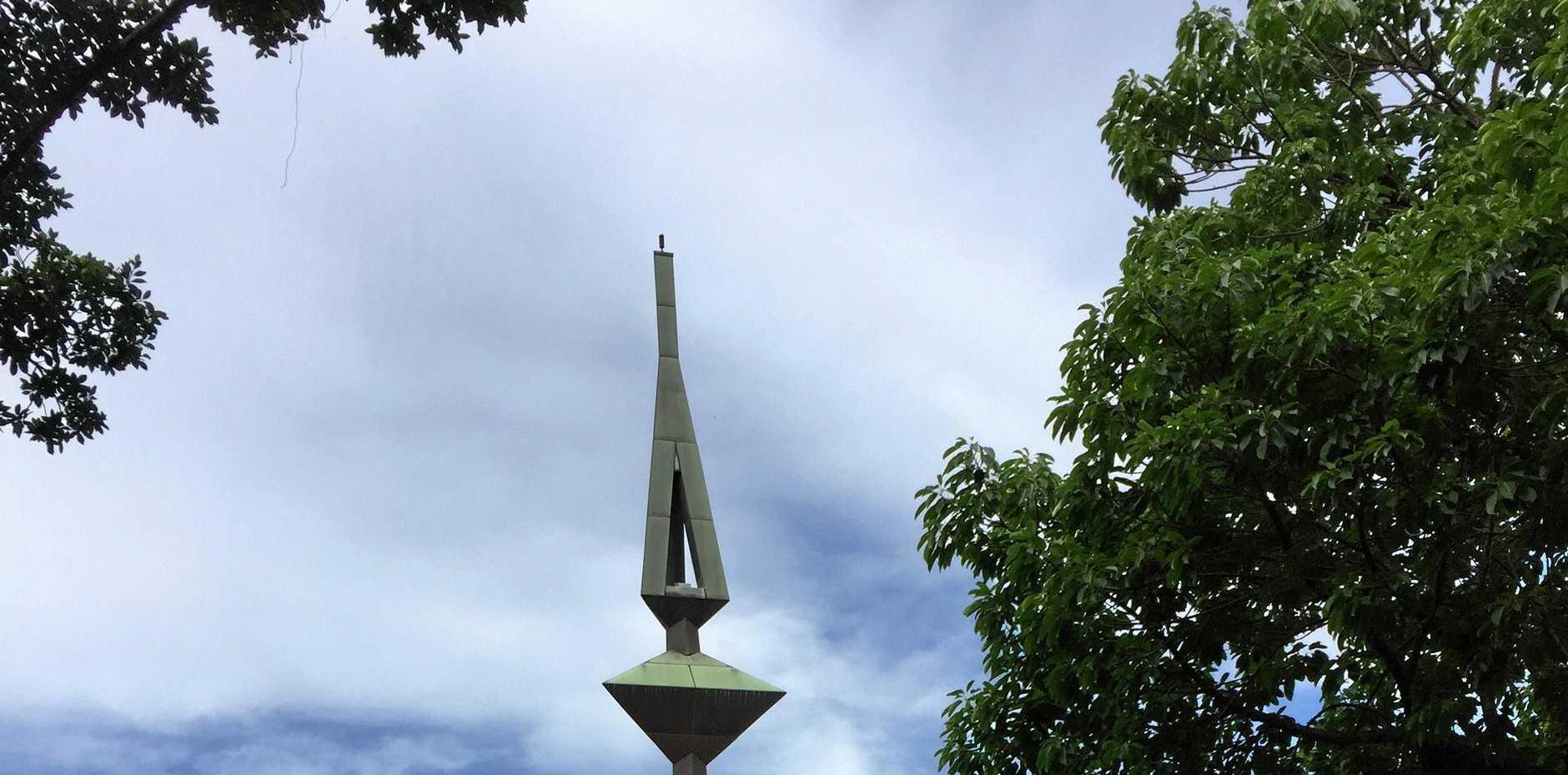 The Peace Park sculpture.