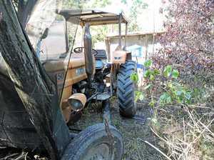 Tractor hits man at nursery