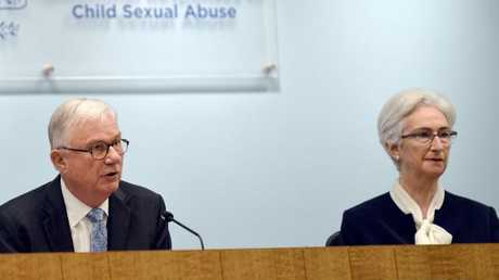 Commissioners Justice Peter McClellan and Justice Jennifer Coates at the final sitting of the Royal Commission into Institutional Responses to Child Sexual Abuse. (Pic: Jeremy Piper)