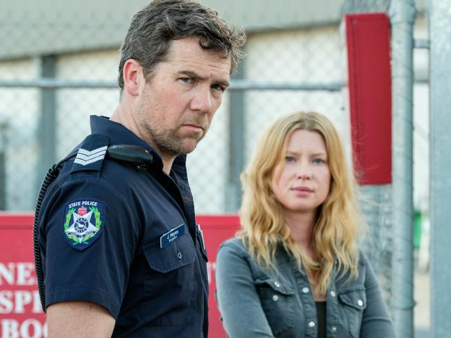 Patrick Brammall (with Emma Booth in the ABC's Glitch) is in high demand.