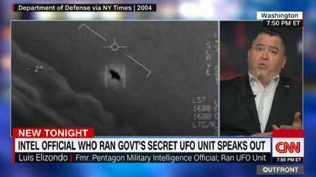 Video of an unidentified flying object. Pic: CNN