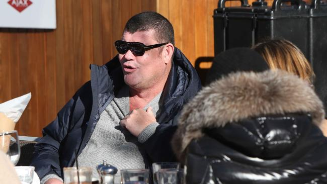 Billionaire James Packer has been enjoying the Christmas season in Aspen. Picture: Splash
