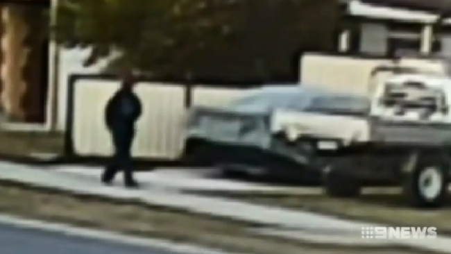 CCTV footage released by police showed a shadowy figure leaving the crime scene.