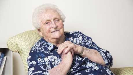 97 year old Lady Flo Bjelke-Petersen in Kingaroy. Photo Lachie Millard