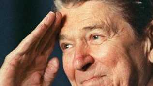 Ronald Reagan's approval after his first year in office was 49 per cent. Picture: Supplied