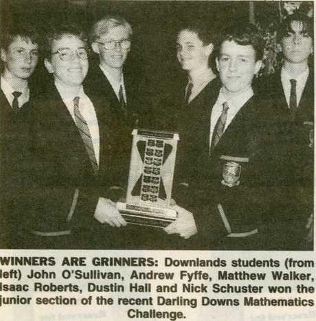 Nick Schuster (far left) was a classmate of Isaac Emmanuel Roberts (third from left).