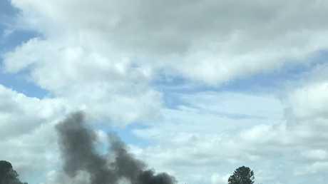 Sammi McCabe's photo of the car fire in Yandina.