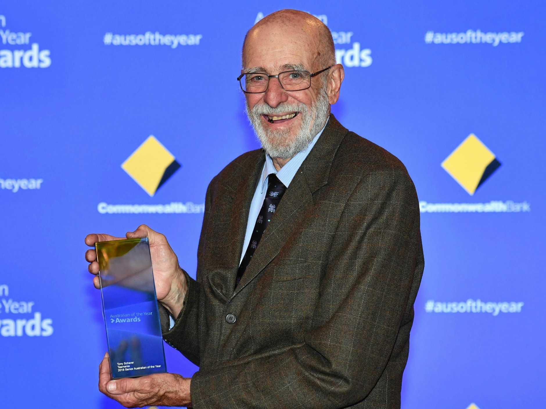 NOMINEE: Senior Australian of the Year 2018, Tasmania's nominee, Tony Scherer.