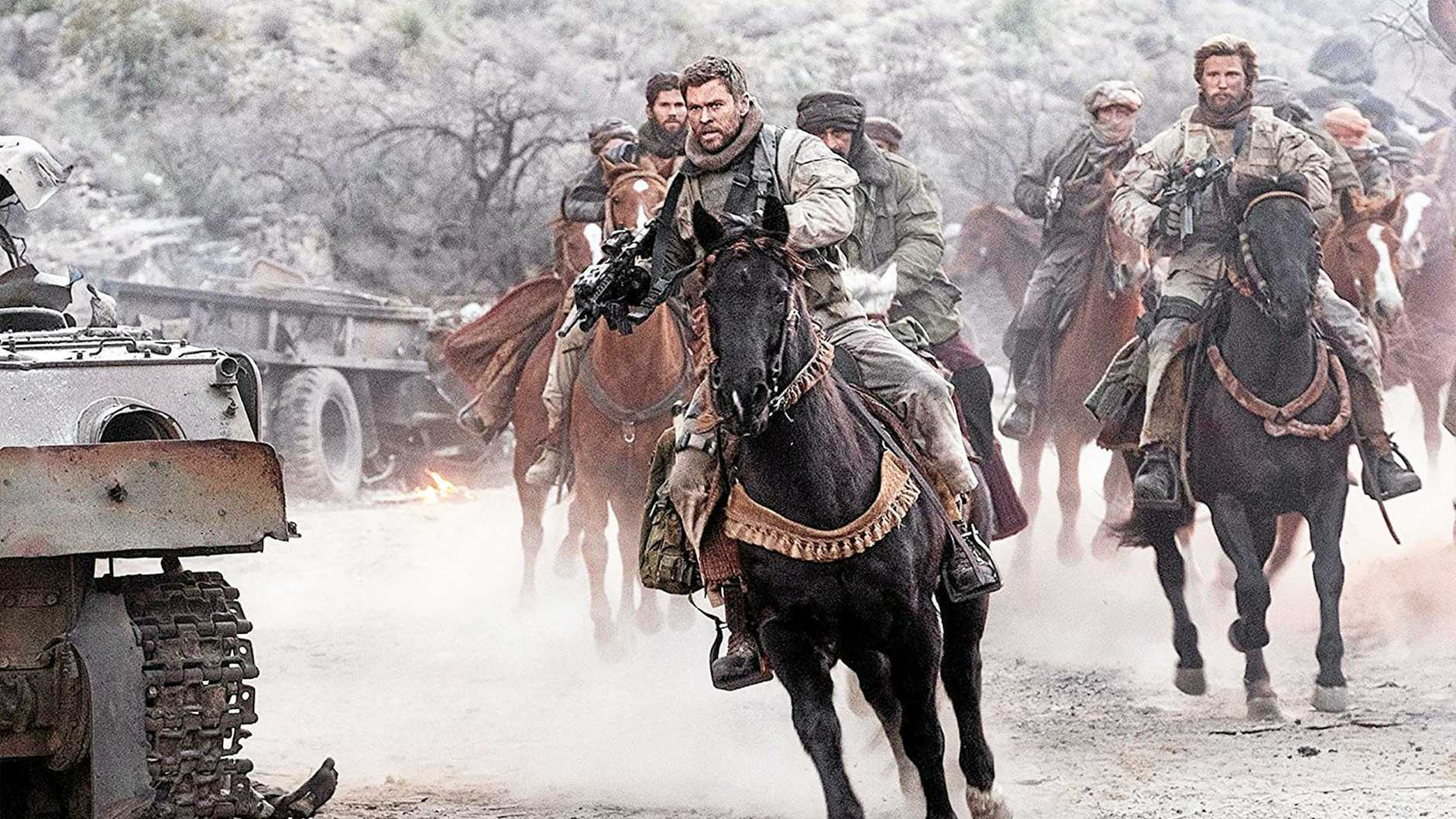 LEADING MAN: Chris Hemsworth in a scene from the movie 12 Strong.