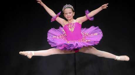 Tahli Styles of Woolgoolga in the Novice Ballet (10yrs) at the Grafton Dance Eisteddfod