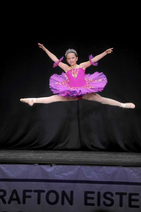Tahli Styles of Woolgoolga in the Novice Ballet (10yrs) at the Grafton Dance Eisteddfod