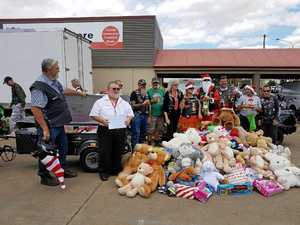 Bikers deliver Christmas cheer for kids