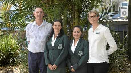 PROUD ACHIEVEMENT: Maclean High School principal Greg Court, Olivia Skinner-Speirs, Shanaye Waters and Senior Aboriginal Studies Teacher Krystle Jurd.