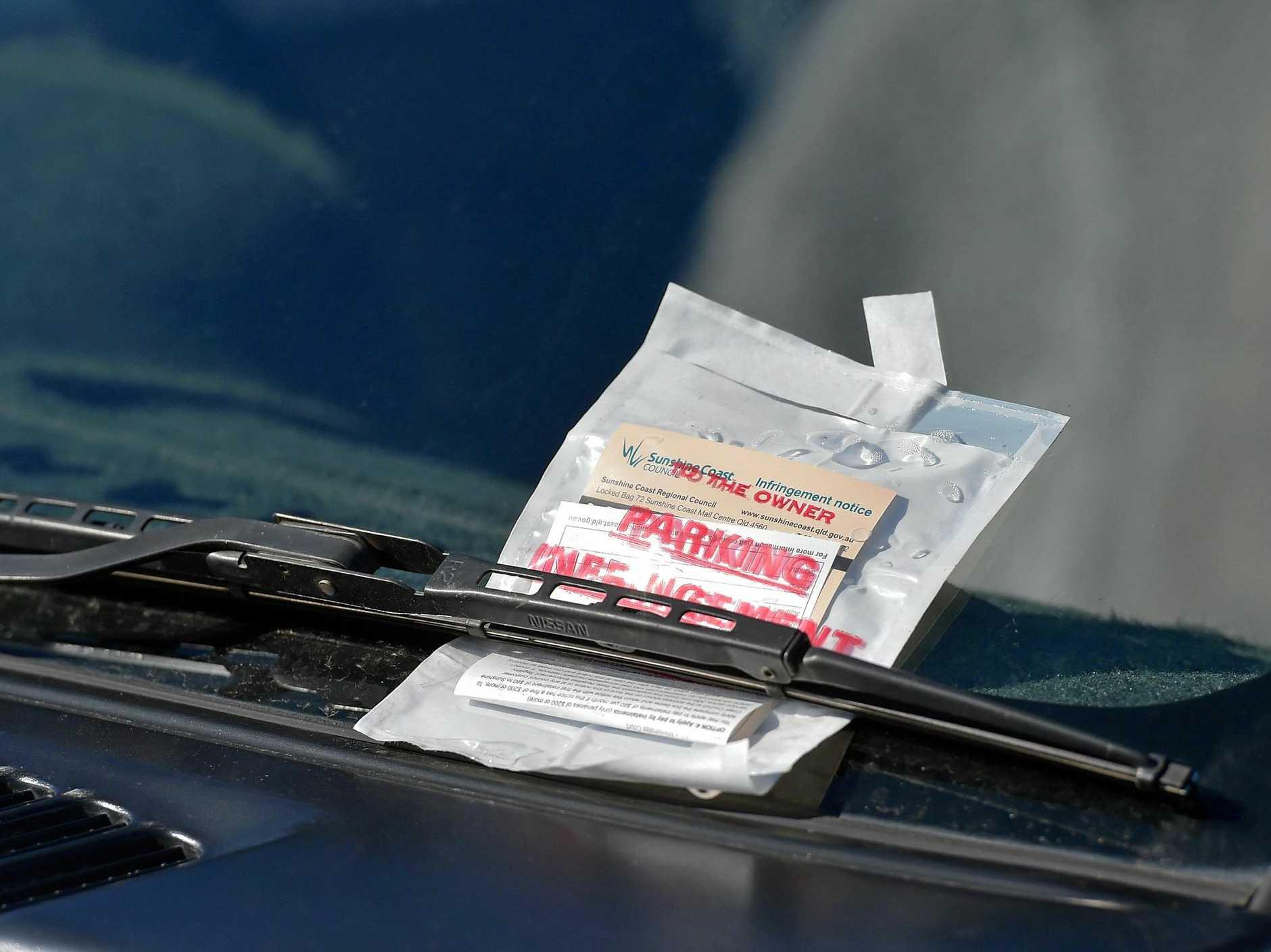 Parking infringement notice, parking ticket, parking fine.