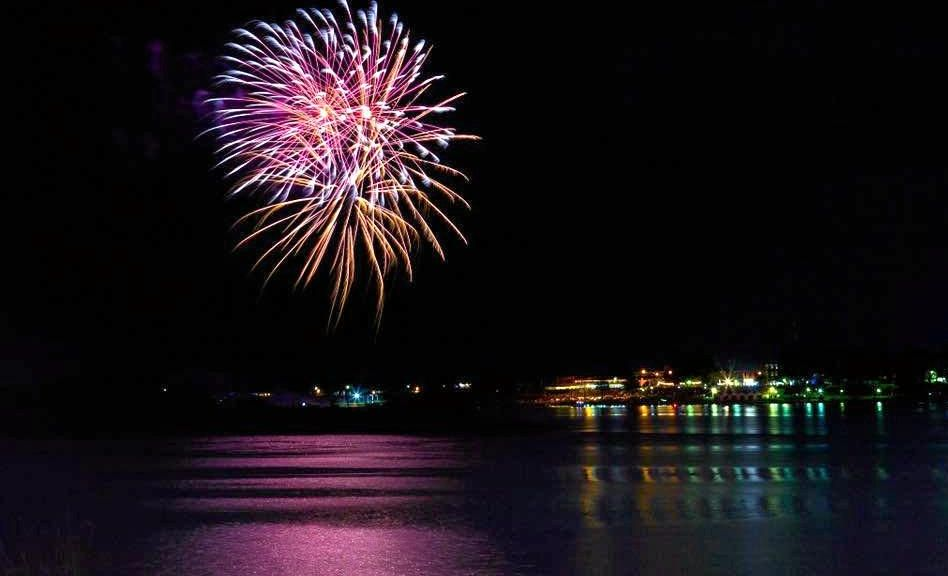 The fireworks at the Riverlight Festival at Memorial Park, Grafton last Friday night submitted for The Daily Examiner's weekly Cover Image competition on Facebook on Monday, 6th November, 2017.