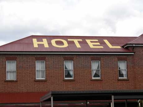 The Criterion Hotel is boasting a brand new paint job on its roof.