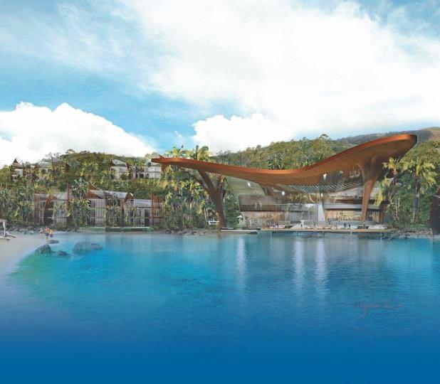 An Artist's impression of the redeveloped Lindeman Island resort.