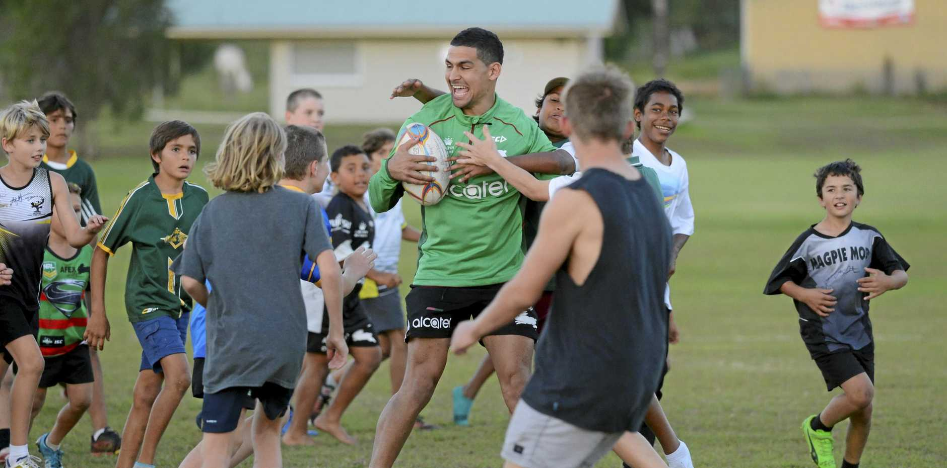 South Sydney Rabbitohs five eighth Cody Walker had a flying visit to the Clarence Valley in May where he was King of the Kids during a meet and greet at Wherret Park.