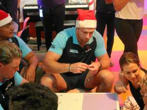 Special moment as Tahs bring festive cheer to sick kids