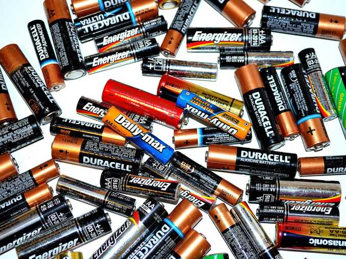 TOSS OUT: Dispose of used handheld batteries responsibly.