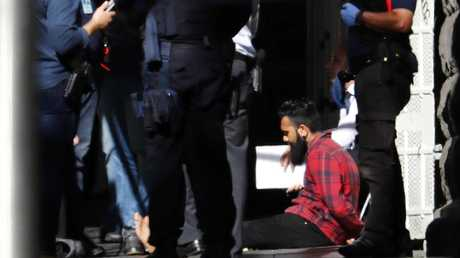 A car has ploughed into pedestrians in Flinders St in Melbourne. The driver and one other person were arrested. Pic: Michael Klein