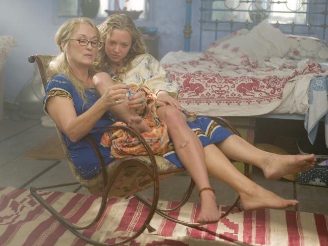 Actors Meryl Streep and Amanda Seyfried in the 2008 film Mamma Mia!