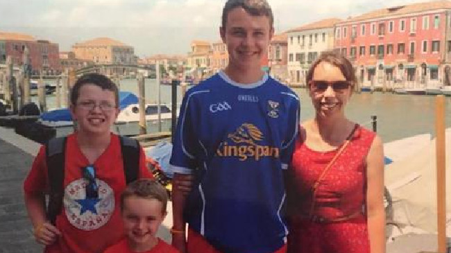 Niall, Ryan, Liam with their mum Clodagh. Picture: Supplied