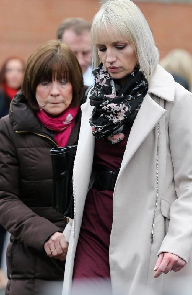 Clodagh's sister Jacqueline Connolly and mother Mary Coll at the inquest. Picture: Crispin Rodwell/The Sun