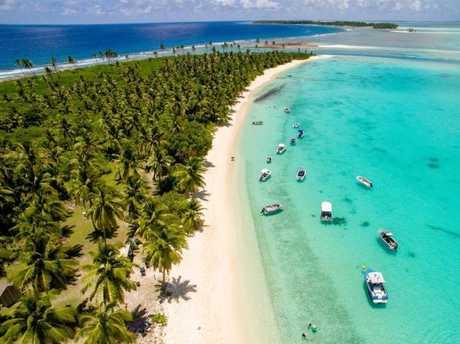 Cossies Beach, Cocos (Keeling) Islands.