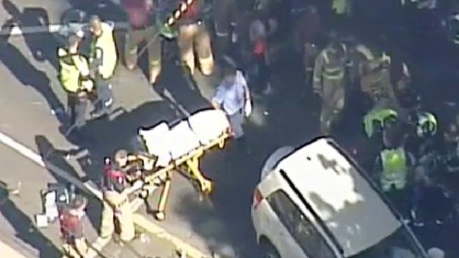 A car has run over multiple people in Flinders St Melbourne. Picture: 7 NEWS