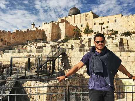 Instagram image posted by Jarryd Hayne of him in Jerusalem. Picture: Instagram