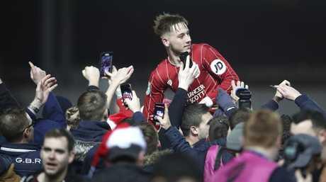 Bristol City's Josh Brownhill celebrates their victory