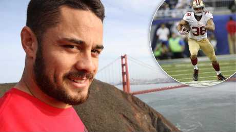 The alleged rape took place while Hayne was in the US with the 49ers.
