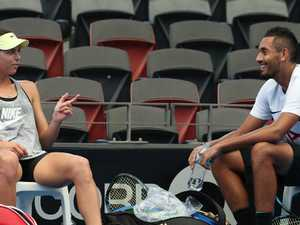 Kyrgios back in No. 1 girl's good books