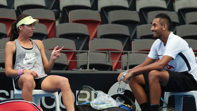 Nick Kyrgios with girlfriend Alja Tomljanovic.