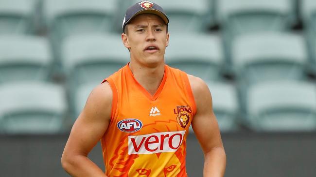 Hugh McCluggage at Brisbane Lions training.